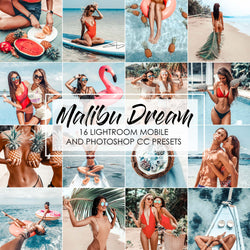Malibu Dream Lightroom Presets and Photoshop Summer Presets