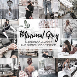 Minimal Grey Presets For Lightroom And Photoshop Gray Tones