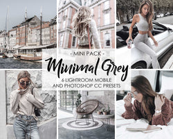 Minimal Grey Presets For Lightroom Mobile