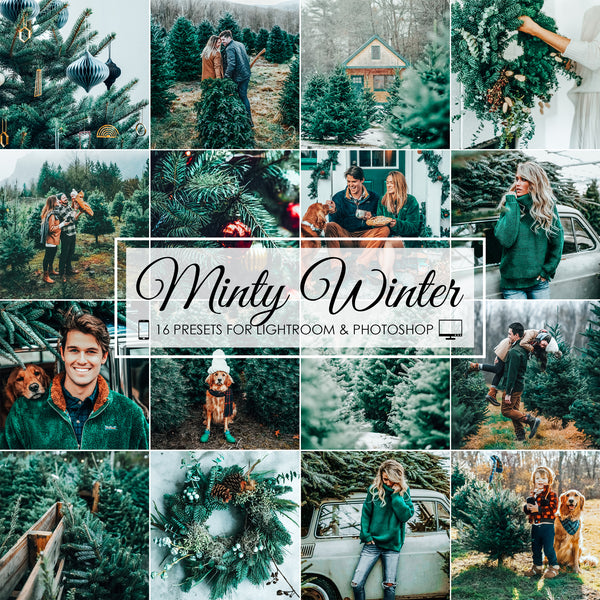 Minty Winter Lightroom Presets for Christmas