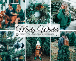 Minty Winter Presets For Lightroom And Photoshop In Christmas Time