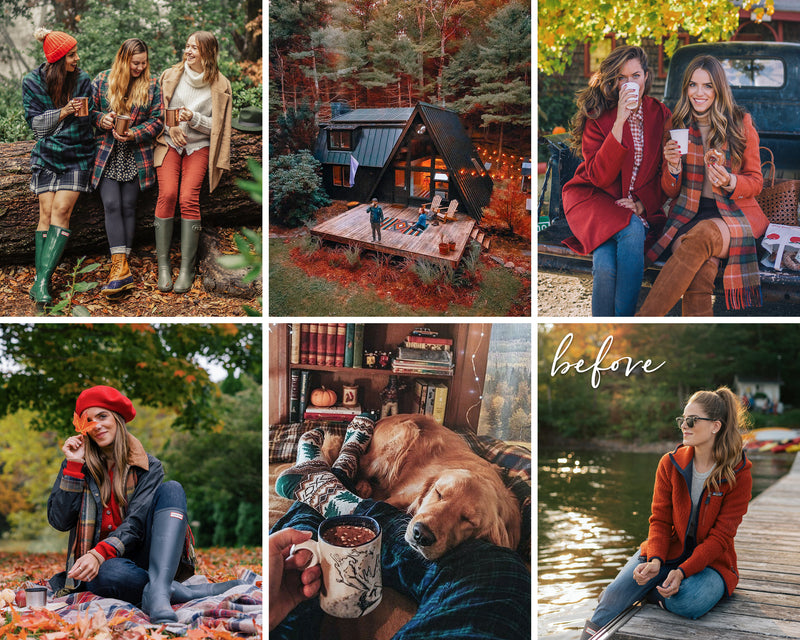 Moody Fall Presets For Lightroom, Autumn Filters for Photoshop