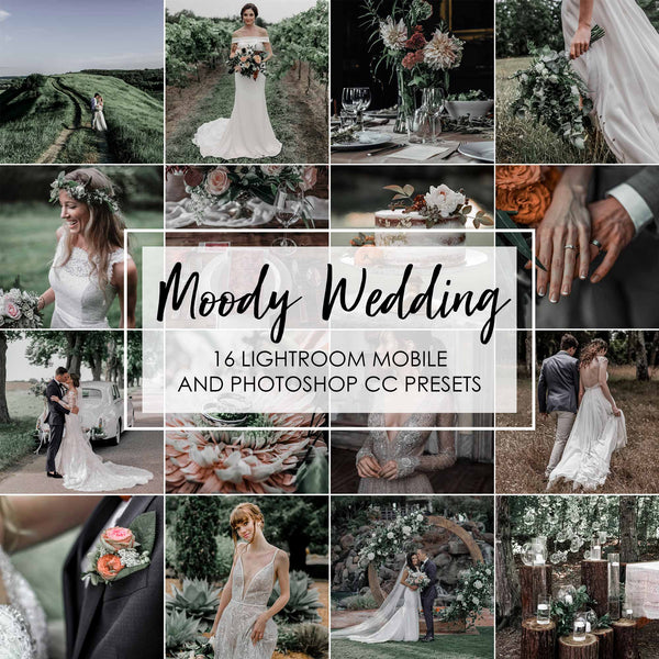 Moody Wedding Presets For Lightroom and Photoshop