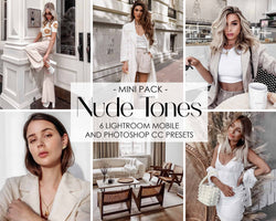 Nude Tones Presets For Adobe Lightroom Mobile And Photoshop