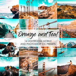 Orange and Teal Presets for Lightroom Mobile And Photoshop