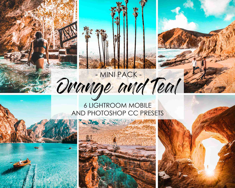 Orange and Teal Presets For Adobe Lightroom Mobile And Photoshop