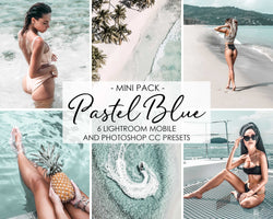 Pastel Blue Lightroom Mobile Presets Pack For iPhone And Photoshop