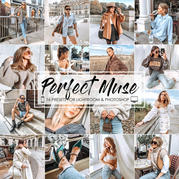 Perfect Muse Lightroom and Photoshop Presets