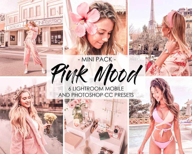 Pink Mood Lightroom Presets And Photoshop Filters