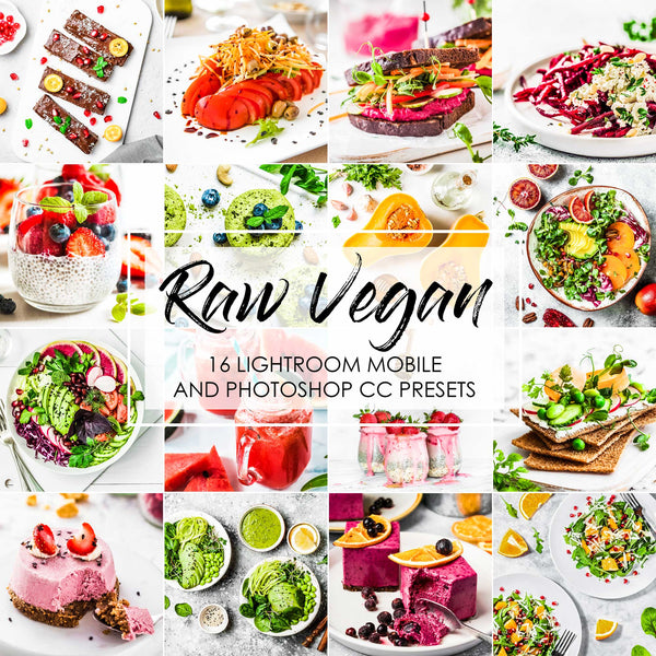 Raw Vegan Food Presets for Lightroom and Photoshop