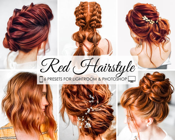 Red Hairstyle Presets For Lightroom and Photoshop
