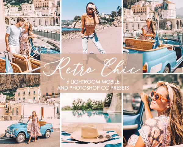 Retro Chic Vintage Film Presets For Lightroom Mobile and Adobe Photoshop