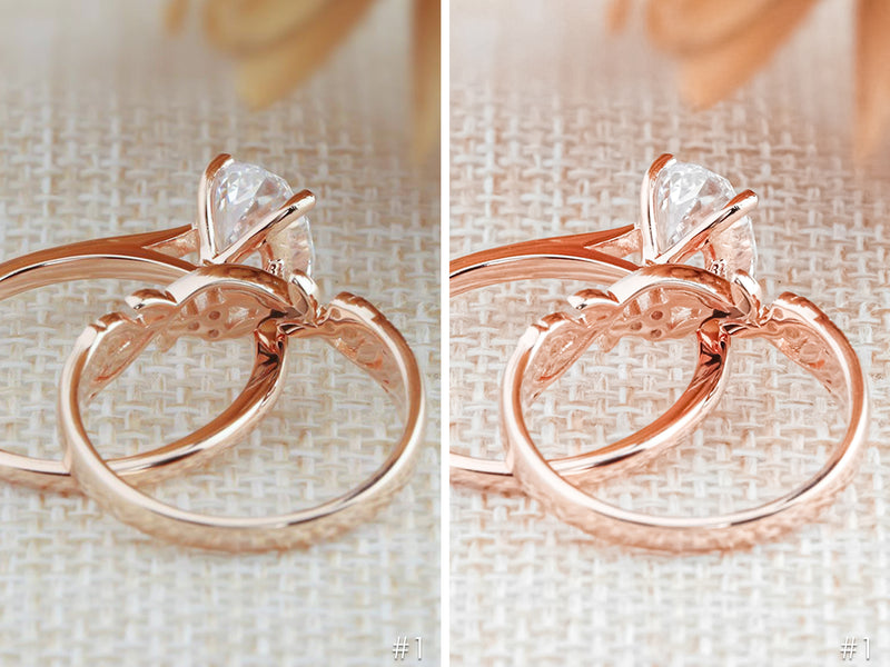 Rose Gold Jewelry Presets for Lightroom and Photoshop