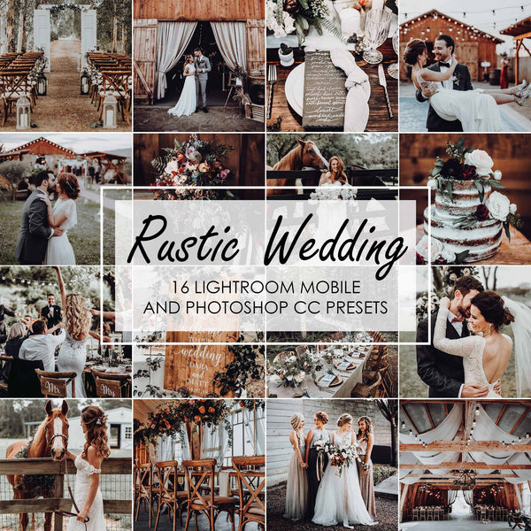 Rustic Wedding Lightroom Presets For Bride And Groom