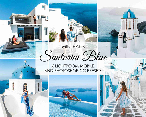 Santorini Blue Presets For Adobe Creative Suite, Lightroom And Photoshop