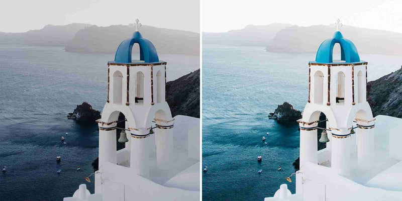 Santorini Blue Lightroom Presets For Mobile And Desktop Photos Of Your Greek Holiday