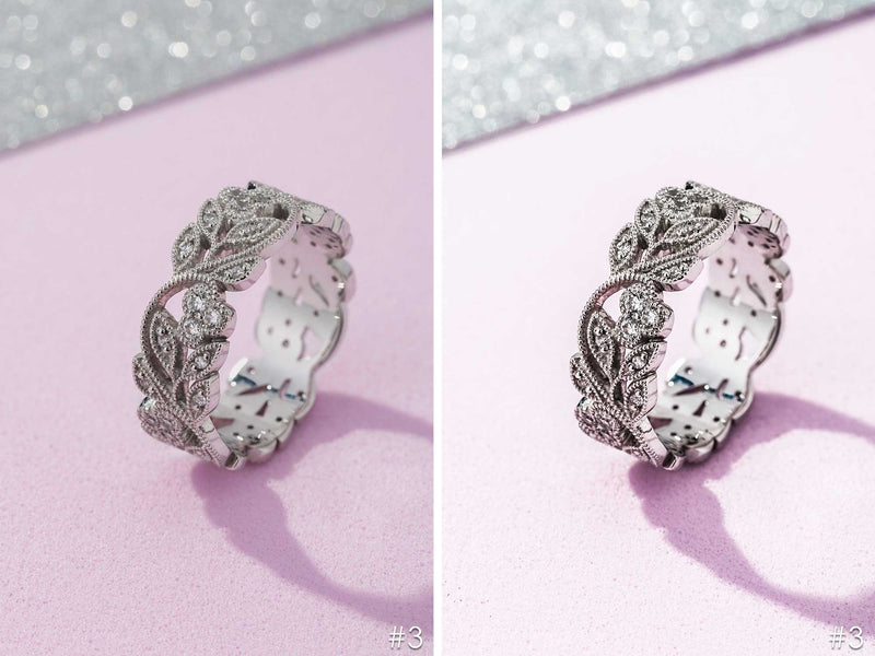 Silver Jewelry Presets for Product Photography in Lightroom and Photoshop