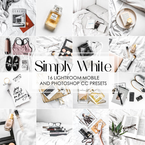 Simply White Presets For Lightroom Mobile and Photoshop