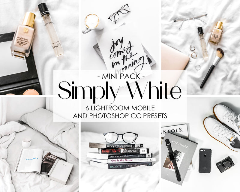 Simply White Product Photography Presets For Lightroom And Photoshop