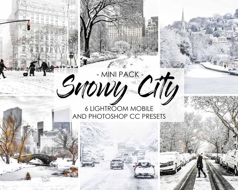 Snowy City Presets For Lightroom Classic And CC