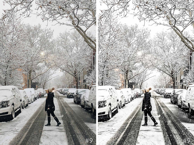 Snowy City Presets For Lightroom Mobile And Photoshop CC