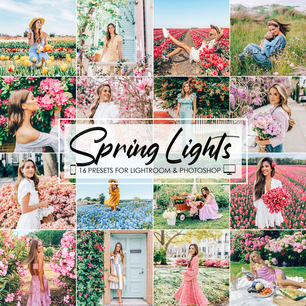 Spring Lights Lightroom Presets and Photoshop Filters