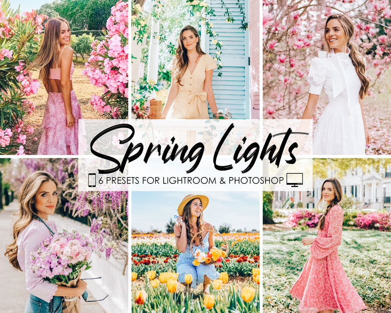 Spring Lights Filters and Presets for Lightroom and Photoshop