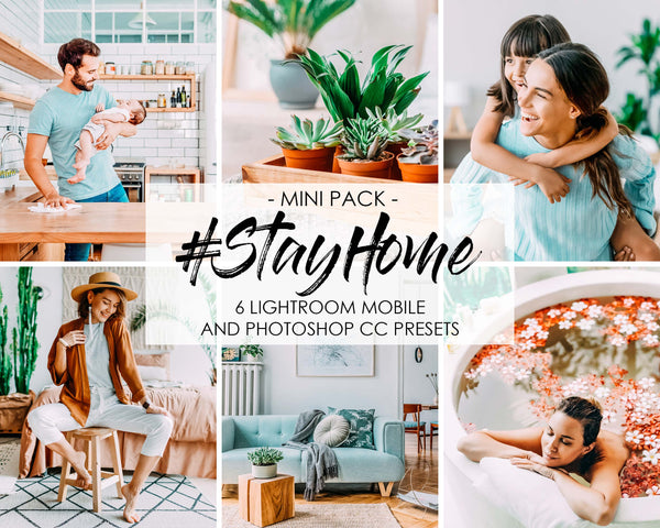 Stay Home Presets for Adobe Lightroom and Photoshop