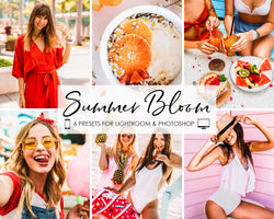 Summer Bloom Lightroom and Photoshop Presets and Filters