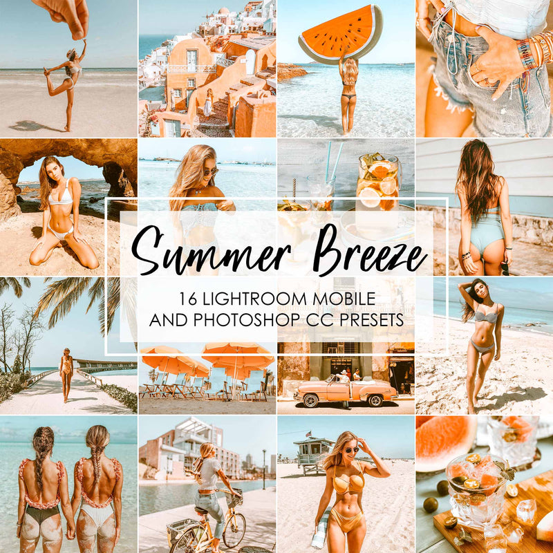 Summer Breeze Orange Presets For Lightroom And Photoshop CC