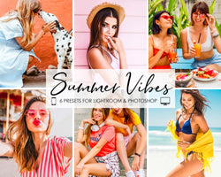 Summer Vibes Lightroom and Photoshop Presets