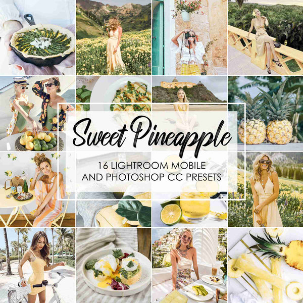 Sweet Pineapple Lightroom Presets For Yellow Tones