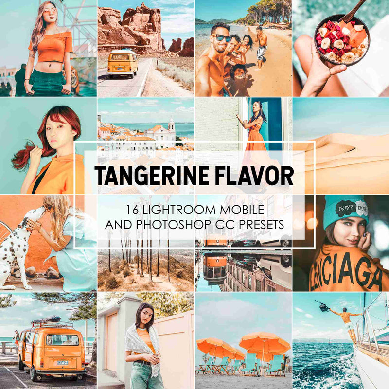Tangerine Flavor Lightroom Presets With Orange And Teal Tones