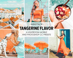 Tangerine Flavor Presets For Orange Vibrant Colors In Lightroom And Photoshop