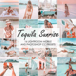 Tequila Sunrise Presets For Pink and Blue Ocean Tones In Lightroom And Photoshop
