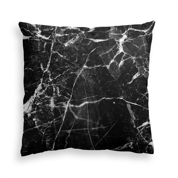 Decorative Throw Pillow Black Marble, Contemporary Modern Home Decor