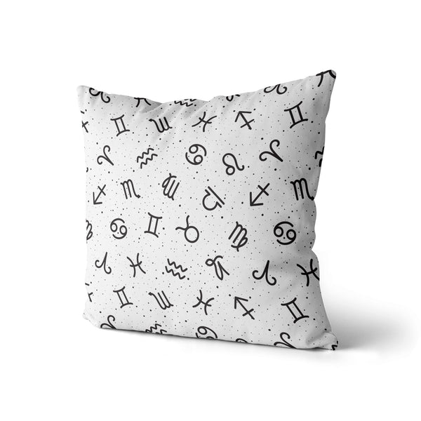 Decorative Throw Pillow Zodiac Print, Horoscope Astrology Pillow