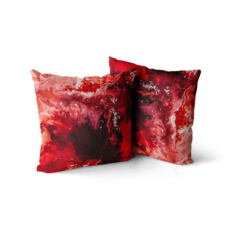 Bloody Mary Throw Pillow, Home Decor Red Decorative Pillow