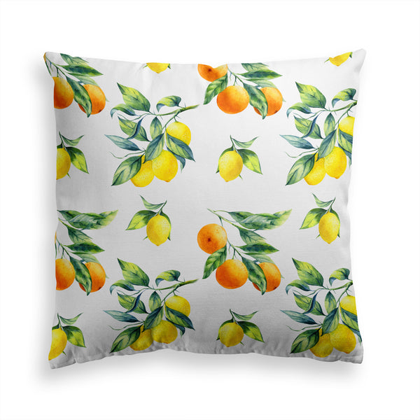 Decorative Throw Pillow, Lemon Fruits Pillow Print, Lemons Oranges Pillow, Contemporary Modern Home Decor