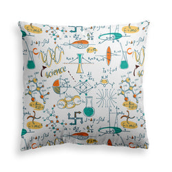 Decorative Throw Pillow, Chemistry Pillow Print, Back To School Pillow, Contemporary Modern Home Decor