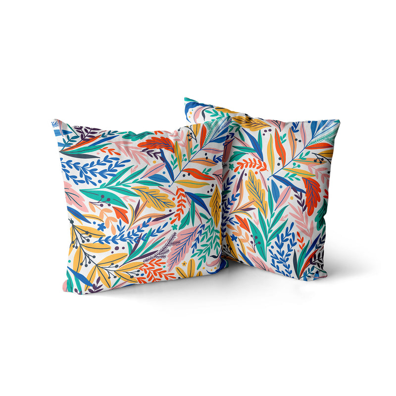 Decorative Throw Pillow Jungle Print, Tropical Exotic Pillow