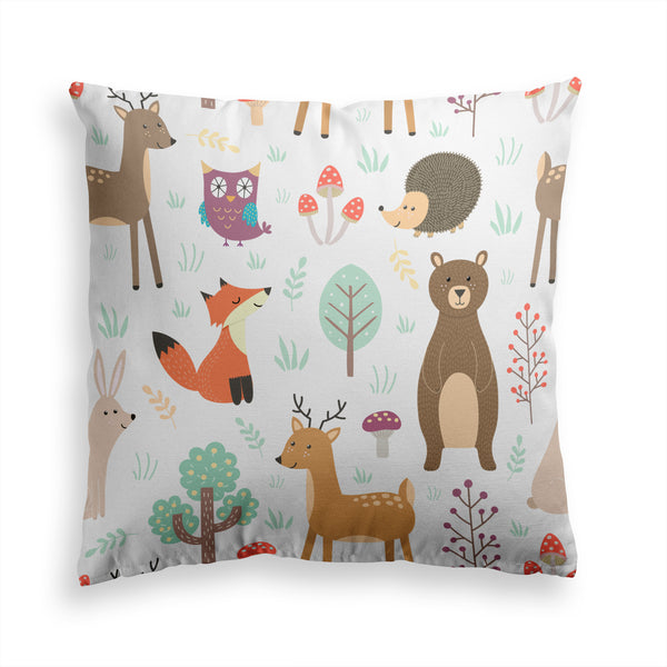 Fox Deer Animal Pillow Print, Kids Children Pillow, Contemporary Modern Home Decor, Pillow Cover