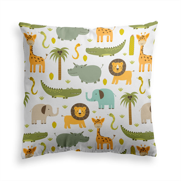 Decorative Throw Pillow  Funny Animal Print, Kids Pillow, Nursery Pillow
