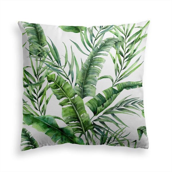 Decorative Throw Pillow Palm Tree Banana Leaf Print, Floral Pillow