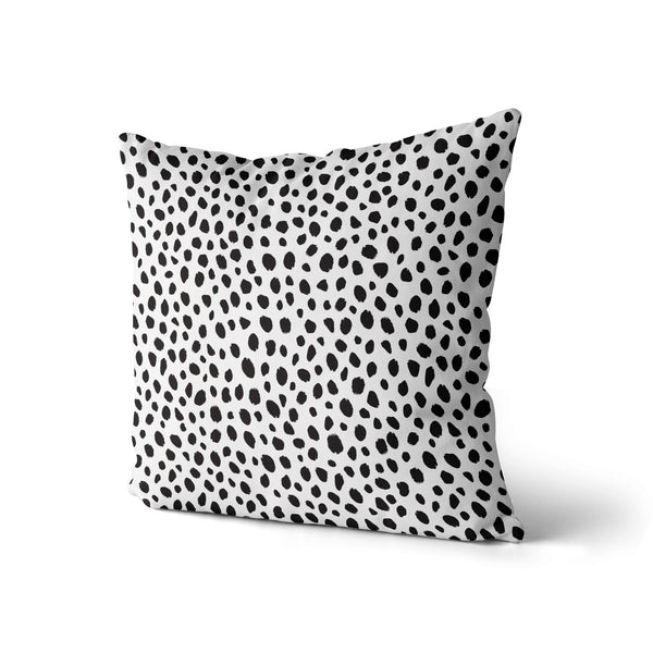 Polka Dots, Animal Pillow Print, Black Dots Pillow, Home Decor Pillow