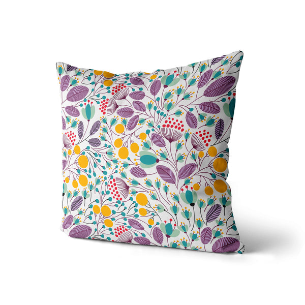 Floral Pillow Print, Spring Summer Flowers Pillow, Home Decor Pillow