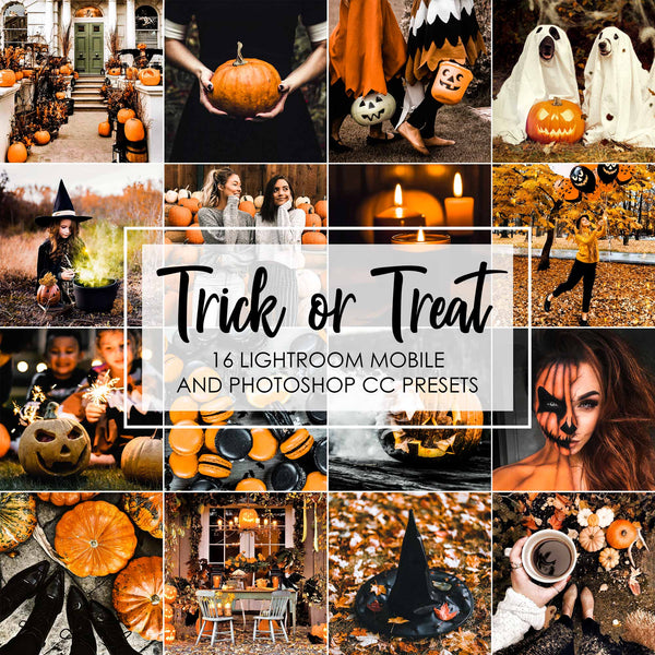 Trick Or Treat Presets For Lightroom Mobile Of Halloween Holiday