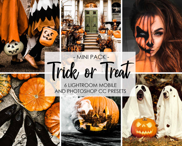 Trick Or Treat Halloween Presets For Lightroom and Photoshop