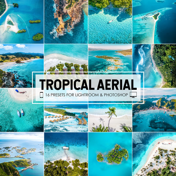 Tropical Aerial Lightroom Presets For Drone DJI Photography