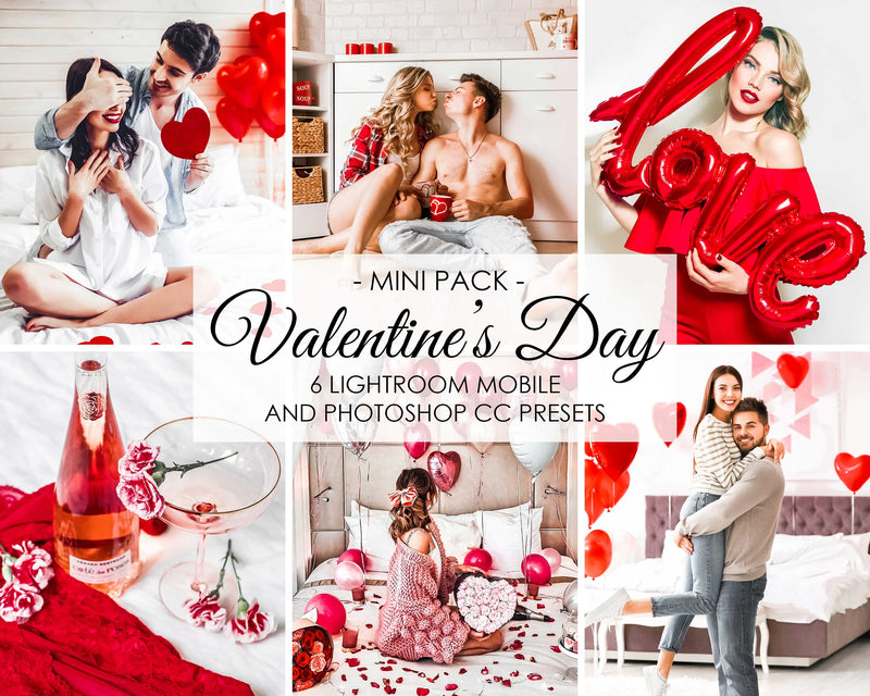 Valentines Day Presets For Adobe Lightroom and Photoshop